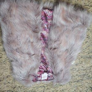 Like new pink cat & Jack fur vest